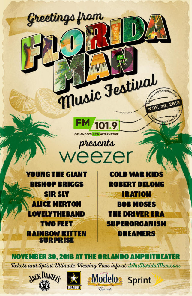 Florida Man Music Festival 2018 Lineup Tickets New