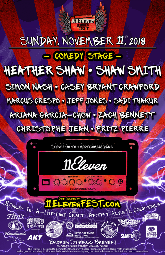 11ELEVEN FEST 2018 - Comedy Lineup