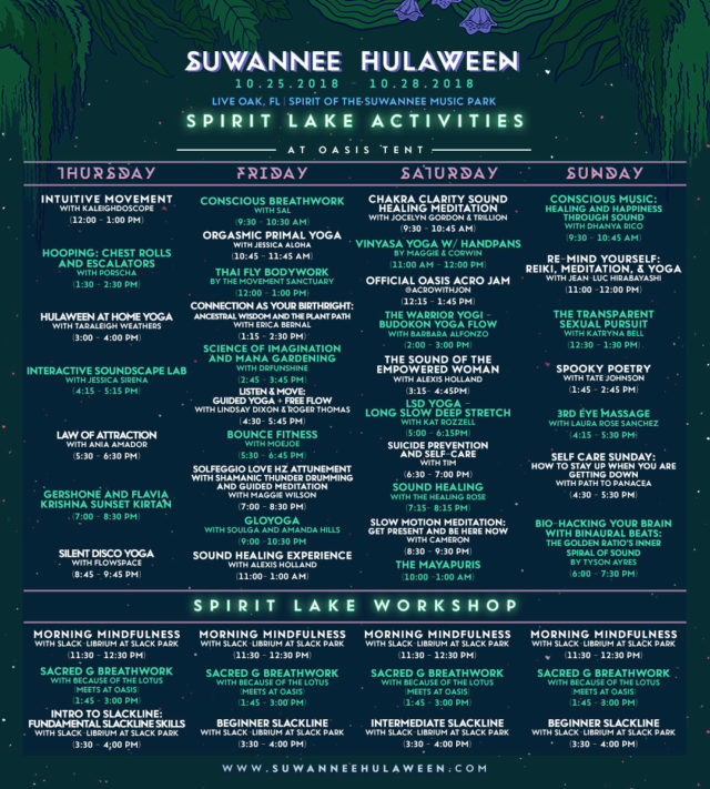 Hulaween 2018 Activities Schedule