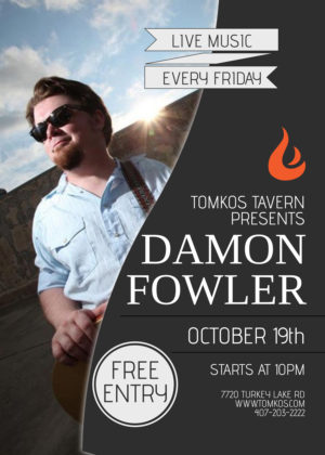 Free Music Friday Orlando Tomkos Tavern