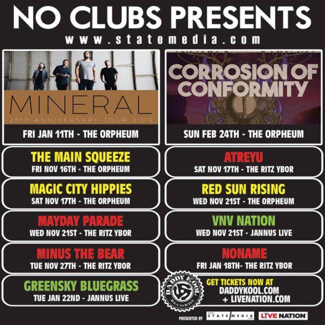 Concerts Tampa Bay December 2018