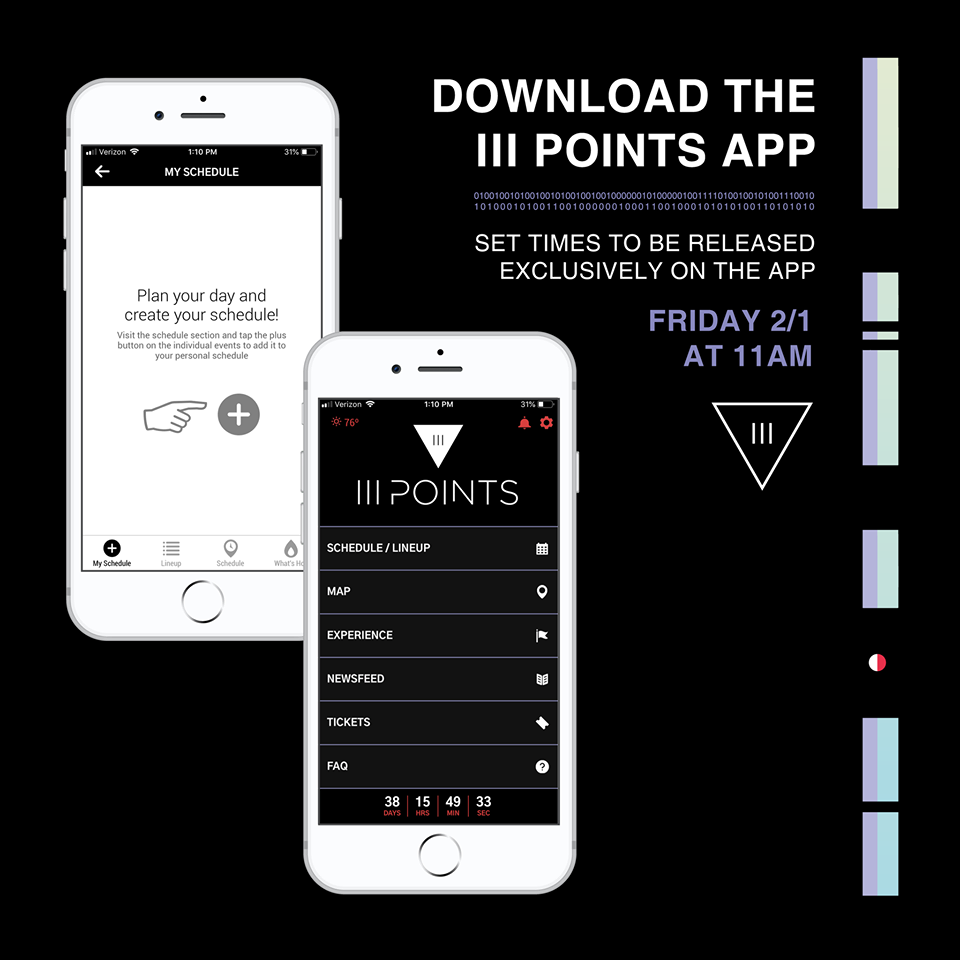 III Points Set Times