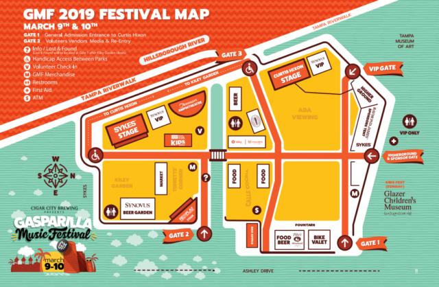 Gasparilla Festival Map Music Fest 2019