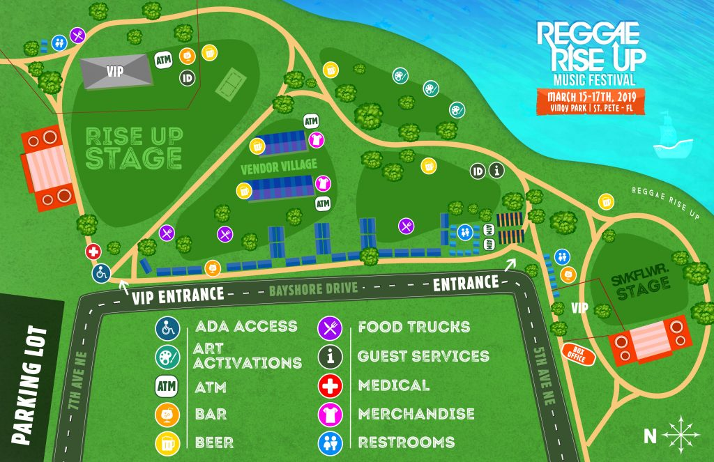Reggae Rise Up 2019 Map