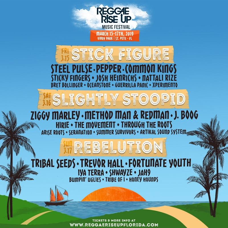 Reggae Rise Up Lineup 2019 Tickets