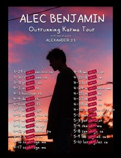 Alec Benjamin Tour Dates
