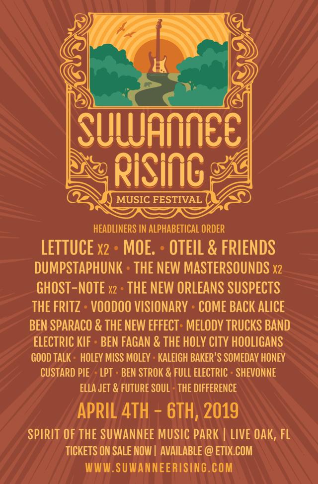 Suwannee Rising Lineup 2019