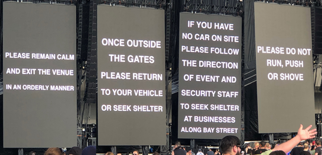 Welcome To Rockville 2019 Rain Closing Sign