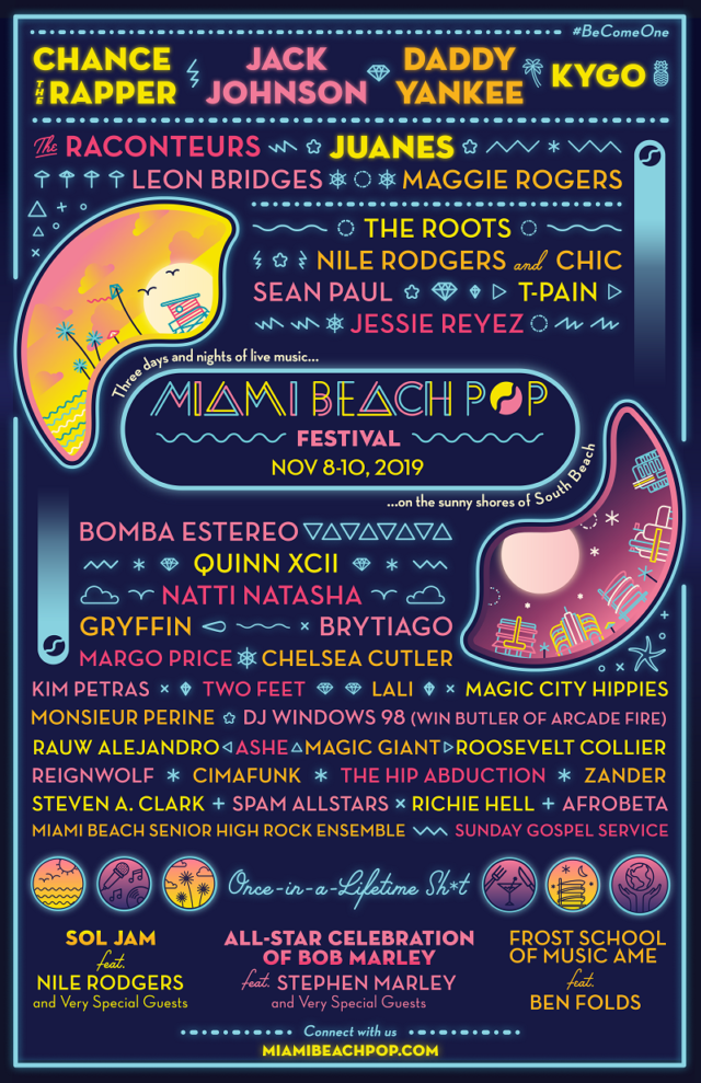 Miami Beach Pop Festival Lineup 2019