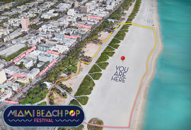 Miami Beach Pop Festival Map Location 2019