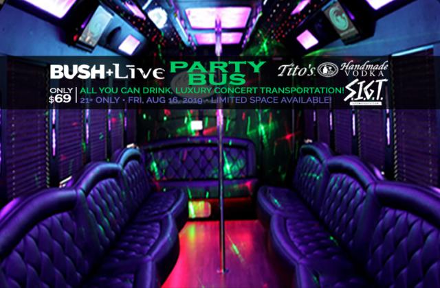 BUSH LIVE - Party Bus Image