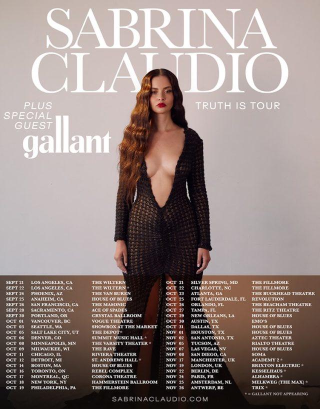 Sabrina Claudio Tour Dates 2019