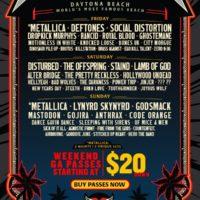 Welcome To Rockville 2020 Lineup Full Daytona Metallica