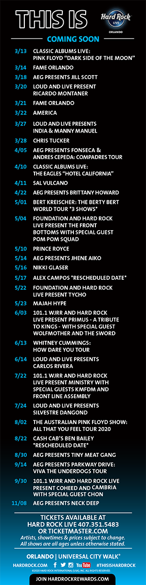 Hard Rock Tickets Calendar March April 2020
