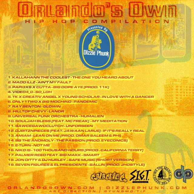 Orlandos Own Hip Hop Compilation Track Listing