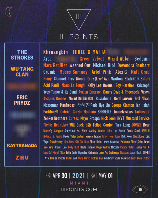 III Points 2021 Lineup Official Announcement
